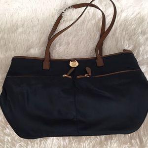 Michael Kors Navy Blue Canvas Bag